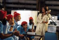 THE LIFE AQUATIC WITH STEVE ZISSOU, Waris Ahluwalia, Willem Daofe, Bill Murray, Noah Taylor, Seu Jorge, Anjelica Huston, 2004, (c) Touchstone