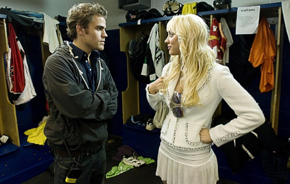 KILLER MOVIE, from left: Paul Wesley, Kaley Cuoco, 2008. ©Peace Arch