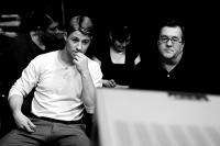 JOHNNY GOT HIS GUN, from left: Benjamin McKenzie, director Rowan Joseph, on set, 2008. ©Truly Indie