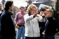 INNOCENT VOICES, (aka VOCES INNOCENTES), producer Lawrence Bender, director Luis Mandoki on set, 2004