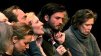 IN THE COMPANY OF ACTORS, Hugo Weaving (back left), Cate Blanchett (left of center), Aden Young (center of frame), Julie Hamilton (right), 2007. ©Shark Island Productions