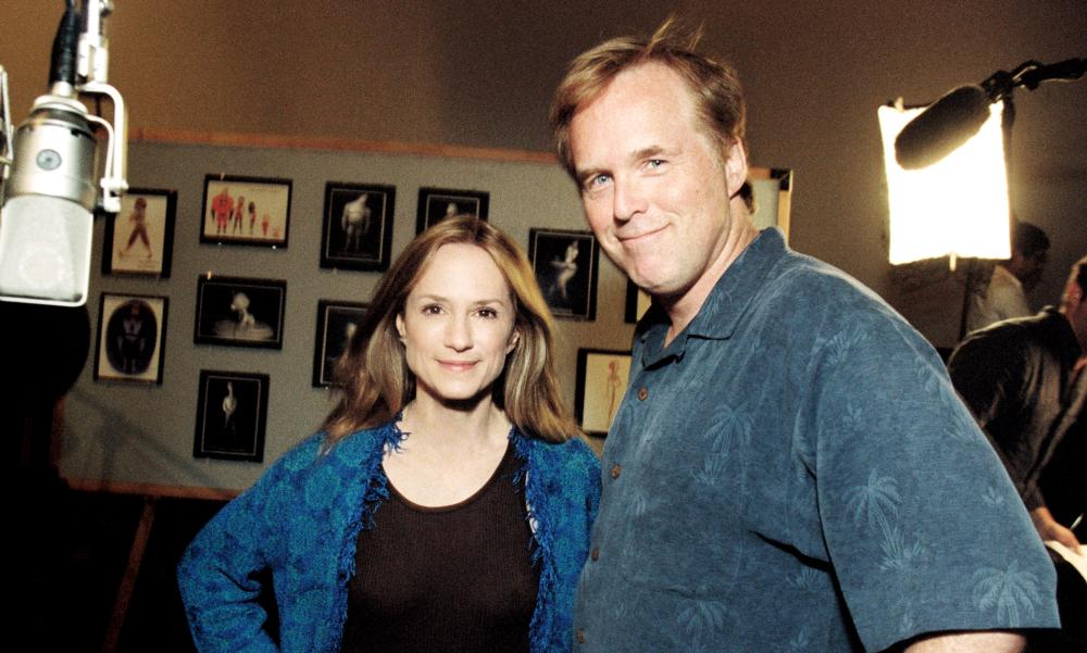 THE INCREDIBLES, Holly Hunter, Brad Bird directing voiceover, 2004, (c) Walt Disney