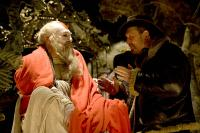 THE IMAGINARIUM OF DOCTOR PARNASSUS, from left: Christopher Plummer, director Terry Gilliam, on set, 2009. ©Sony Pictures Classics