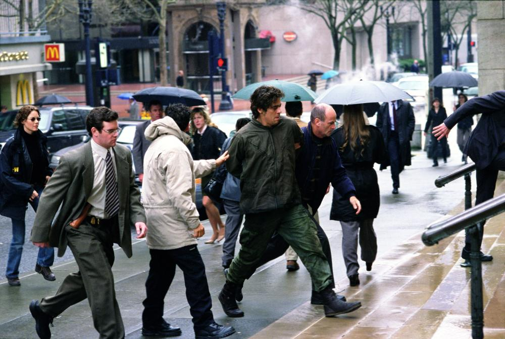 THE HUNTED, Connie Nielsen, Benicio Del Toro, 2003, (c) Paramount