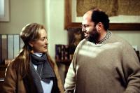 THE HOURS, Meryl Streep, producer Scott Rudin on the set, 2002, (c) Paramount