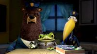 HOODWINKED, Xzibit as Chief Grizzly, David Ogden Stiers as Nicky Flippers, Anthony Anderson as Deputy Bill Stork, 2005, © The Weinstein Company