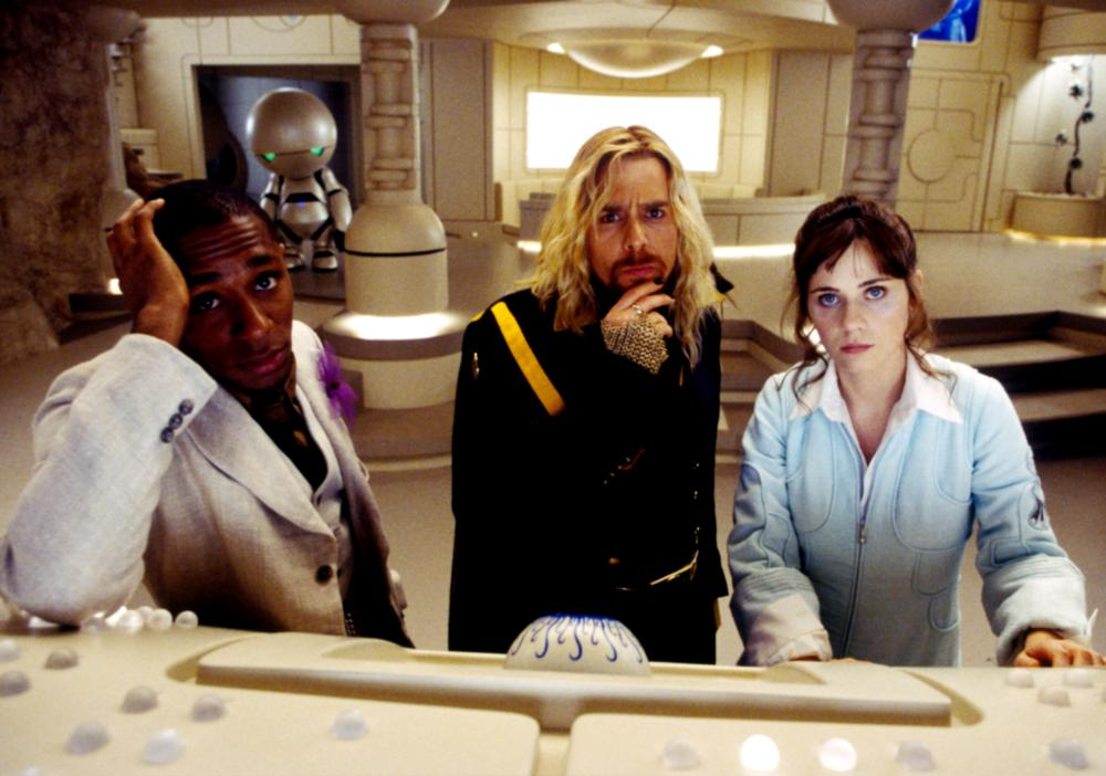 THE HITCHHIKER'S GUIDE TO THE GALAXY, Mos Def, Sam Rockwell, Zooey Deschanel, 2005, (c) Touchstone
