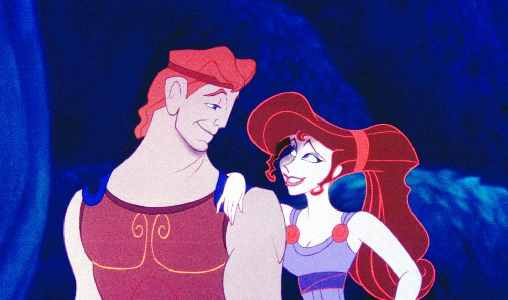 HERCULES, from left: Hercules, Megara, 1997, ©Walt Disney Pictures