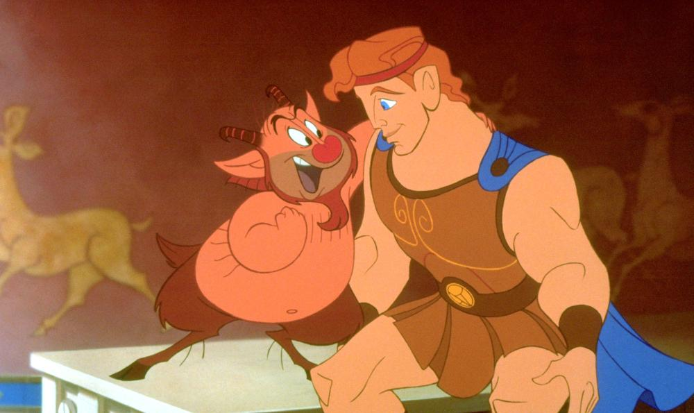 HERCULES, from left: Philoctetes, Hercules, 1997, ©Walt Disney Pictures