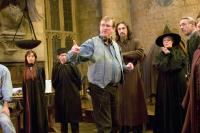 HARRY POTTER AND THE GOBLET OF FIRE, director Mike Newell, Predrag Bjelac, Maggie Smith on set, 2005, (c) Warner Brothers