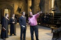 HARRY POTTER AND THE GOBLET OF FIRE, Robert Pattinson, director Mike Newell on set, 2005, (c) Warner Brothers
