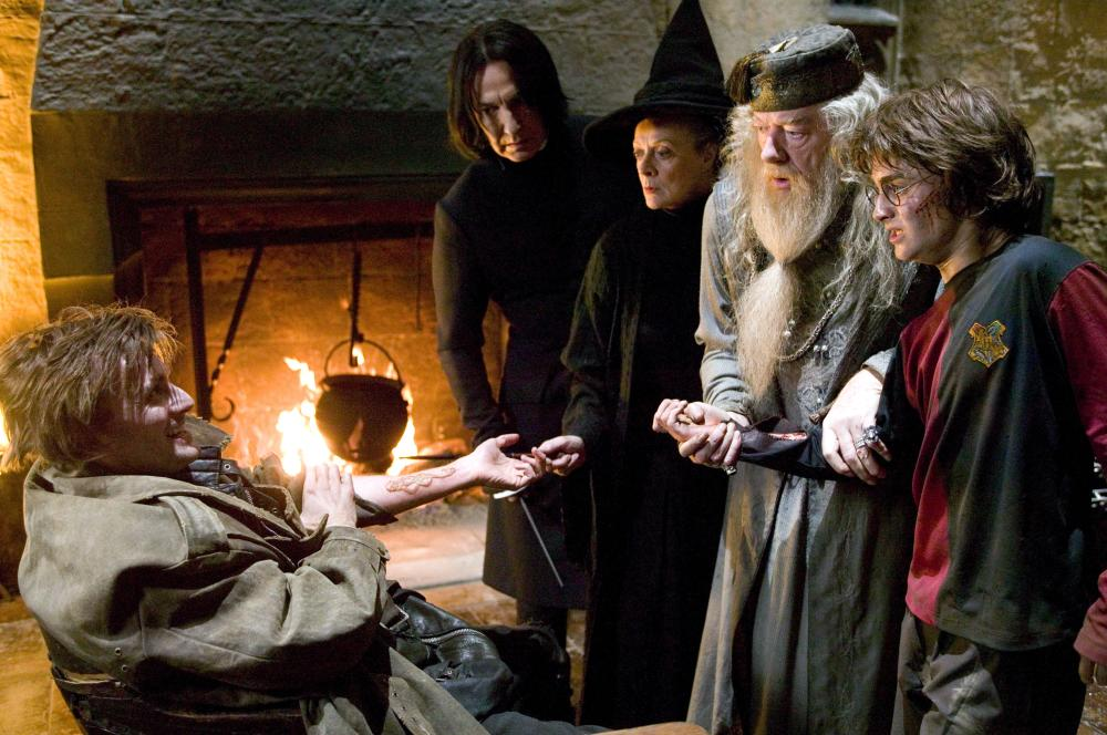 HARRY POTTER AND THE GOBLET OF FIRE, David Tennant, Alan Rickman, Maggie Smith, Michael Gambon, Daniel Radcliffe, 2005, (c) Warner Brothers /