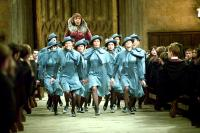 HARRY POTTER AND THE GOBLET OF FIRE, Frances de la Tour (with various Beauxbatons students), 2005, (c) Warner Brothers