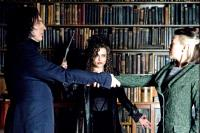HARRY POTTER AND THE HALF-BLOOD PRINCE, from left: Alan Rickman, Helena Bonham Carter, Helen McCrory, 2009. ©Warner Bros.