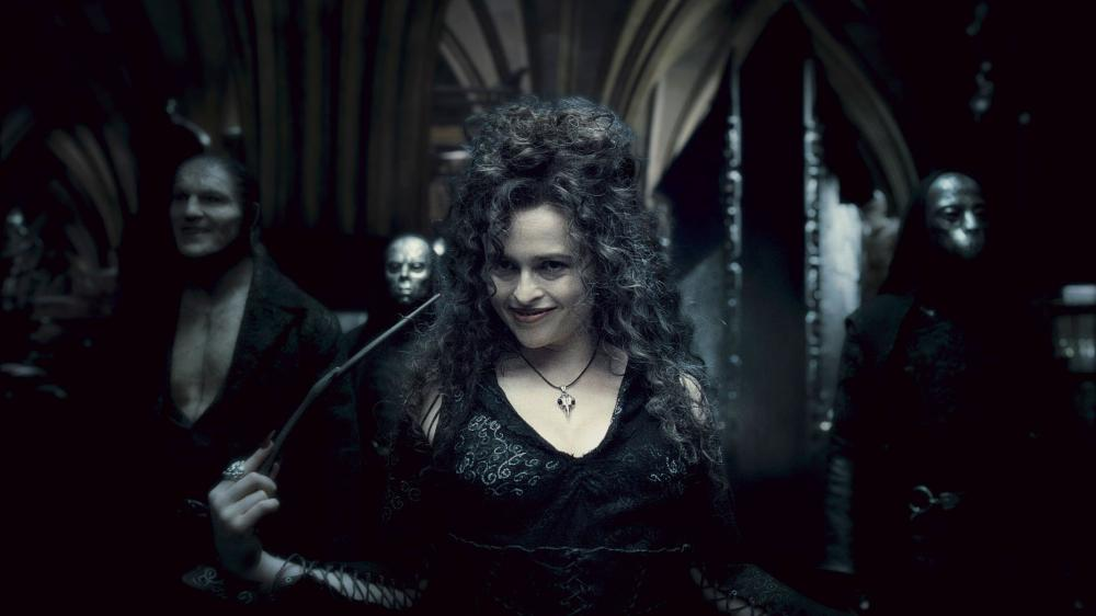 HARRY POTTER AND THE HALF-BLOOD PRINCE, Dave Legeno (left), Helena Bonham Carter (front), 2009. ©Warner Bros.