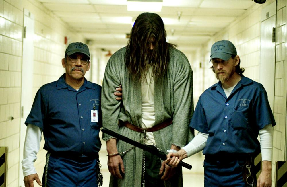 HALLOWEEN, Danny Trejo (left), Tyler Mane (center), 2007. ©Dimension Films