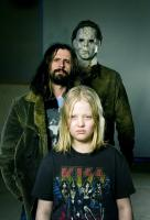 HALLOWEEN, Daeg Faerch (front), director Rob Zombie (left), Tyler Mane (back), 2007. ©Dimension Films