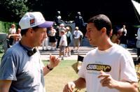 HAPPY GILMORE, director Dennis Dugan, Adam Sandler on set, 1996, (c) Universal