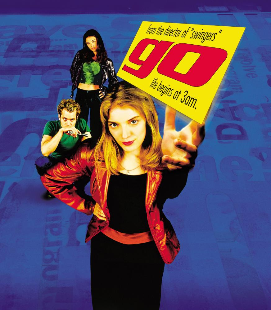 GO, (back to front) Katie Holmes, Timothy Olyphant, Sarah Polley, 1999, (c) Columbia
