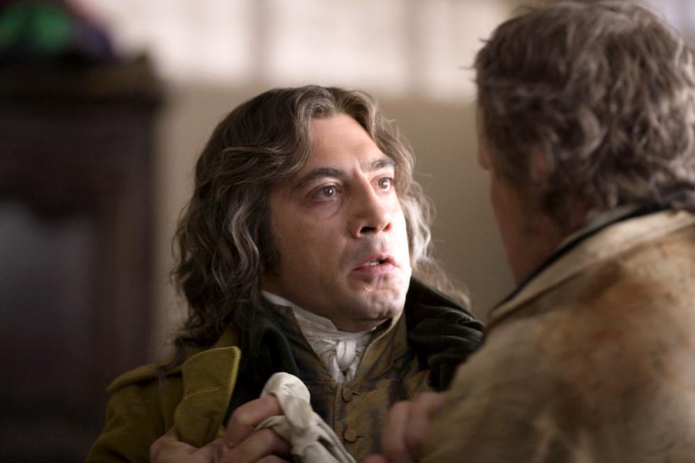 GOYA'S GHOSTS, Javier Bardem, Stellan Skarsgard as Francisco Goya, 2006. ©Warner Bros.