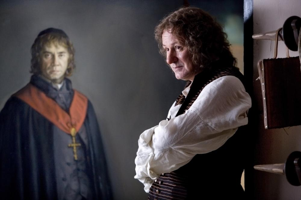GOYA'S GHOSTS, Javier Bardem (in painting), Stellan Skarsgard as Francisco Goya, 2006. ©Warner Bros.