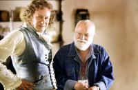 GOYA'S GHOSTS, Stellan Skarsgard as Goya, producer Saul Zaentz, on set, 2006. ©Warner Bros.