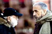 GOYA'S GHOSTS, producer Saul Zaentz (left), on set, 2006. ©Warner Bros.