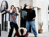 GOOD DICK, from left: Martin Starr, Mark Webber, Jason Ritter (sitting), Eric Edelstein,  2008.