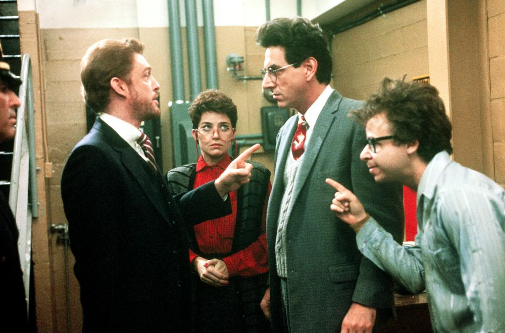 GHOSTBUSTERS, William Atherton, Annie Potts, Harold Ramis, Rick Moranis, 1984, (c) Columbia