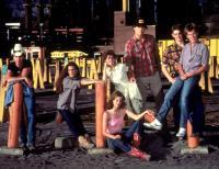 FOOTLOOSE, Jim Youngs, Sarah Jessica Parker, Elizabeth Gorcey, Lori Singer, John Laughlin, Christopher Penn, Kevin Bacon, 1984, (c) Paramount
