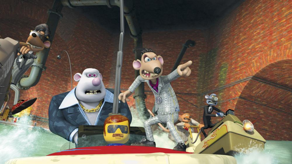 FLUSHED AWAY, Whitey (second from left, voice: Bill Nighy), Spike (front, right, voice: Andy Serkis), 2006. ©DreamWorks