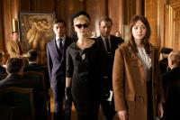 AN EDUCATION, from left: Dominic Cooper, Rosamund Pike, Peter Sarsgaard, Carey Mulligan, 2009. Ph: Kerry Brown/©Sony Pictures Classics
