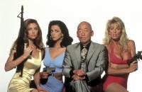 DO OR DIE, from left: Cynthia Brimhall, Roberta Vasquez, Pat Morita, Dona Speir, 1991. ©Malibu Bay Films