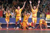 DODGEBALL: A TRUE UNDERDOG STORY, Christine Taylor, Justin Long, Stephen Root, Joel Moore, Christopher Williams, 2004, TM & Copyright (c) 20th Century Fox Film Corp. All rights reserved.