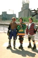 D2: THE MIGHTY DUCKS, from left: Brandon Adams, Joshua Jackson, Matt Doherty, 1994, ©Buena Vista Pictures