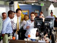 DADDY DAY CARE, Eddie Murphy, Kevin Nealon, director Steve Carr on the set, 2003, (c) Columbia