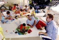 DADDY DAY CARE, Jeff Garlin, Khamani Griffin, Eddie Murphy, director Steve Carr on the set, 2003, (c) Columbia