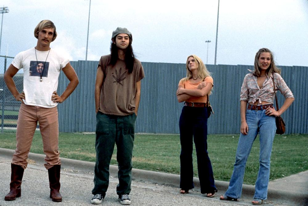 DAZED AND CONFUSED, Matthew McConaughey, Rory Cochrane, Deena Martin, Joey Lauren Adams, 1993, (c) Gramercy Pictures