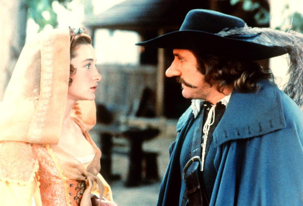 CYRANO DE BERGERAC, Anne Brochet as Roxane, Gerard Depardieu as Cyrano, 1990. ©Orion Classics