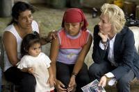 CRUDE, Maria Garofalo (back left), Silvia Yanez (back, center), Trudie Styler, 2009. ph: Sebastian Posingis/©First Run Features