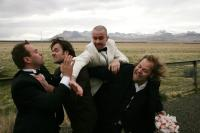 COUNTRY WEDDING, (aka SVEITABRUOKAUP), Bjorn Hlynur Haraldsson (second from right), Olafur Darri Olafsson (right), 2008. ©Sambio