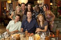 COUPLES RETREAT, clockwise from bottom left: Jason Bateman, Kristen Bell, Jon Favreau, Kristin Davis, Faizon Love, Kali Hawk, Malin Akerman, Vince Vaughn, 2009. ©Universal