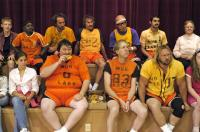 CHURCH BALL, upper 2,4,5: Gary Coleman, Andrew Wilson, Clint Howard, bottom row, eating, Chad Long, 2006. (c)Halestone Distribution