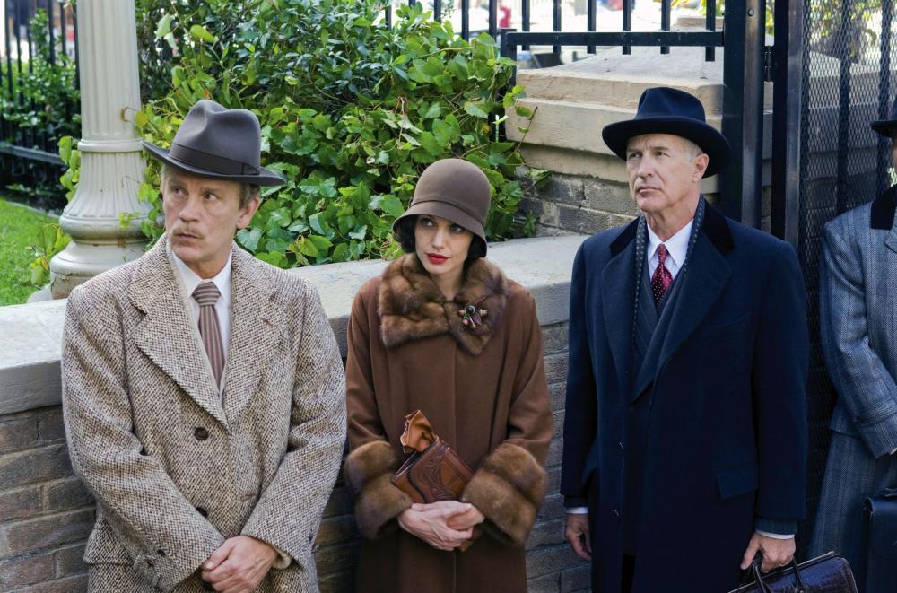 CHANGELING, from left: John Malkovich, Angelina Jolie, Geoffrey Pierson, 2008. ©Universal Pictures