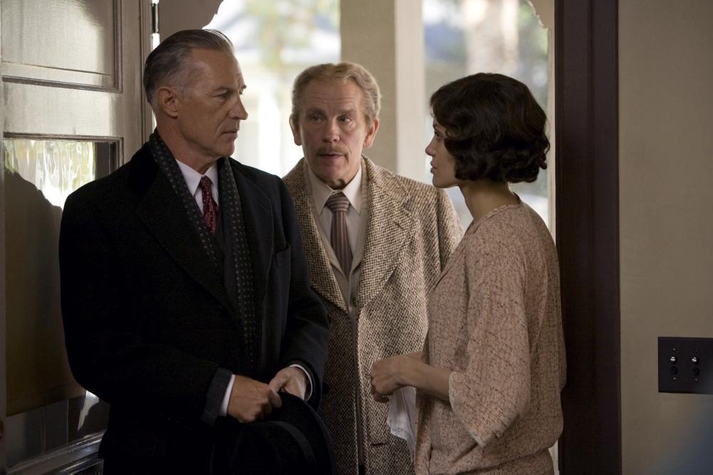 CHANGELING, from left: Geoffrey Pierson, John Malkovich, Angelina Jolie, 2008, © Universal