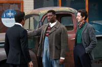 CADILLAC RECORDS, from left: Jeffrey Wright as Muddy Waters, Eamonn Walker, Adrien Brody, 2008. ©Sony BMG Feature Films