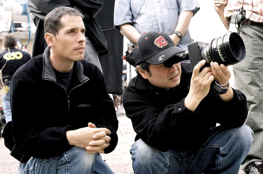 BROKEBACK MOUNTAIN, Cinematographer Rodrigo Prieto, Director Ang Lee, on set, 2005, ©Focus Films