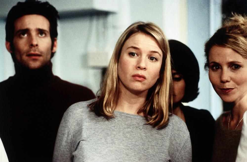BRIDGET JONES'S DIARY, from left: James Callis, Renee Zellweger, Sally Phillips, 2001, © Miramax