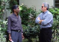 BRINGING DOWN THE HOUSE, Producers Ashok Amritraj, David Hoberman on the set, 2003, (c) Walt Disney