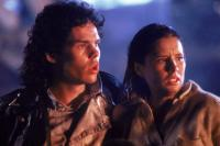 THE BLOB, from left: Kevin Dillon, Shawnee Smith, 1988. ©Tri-Star